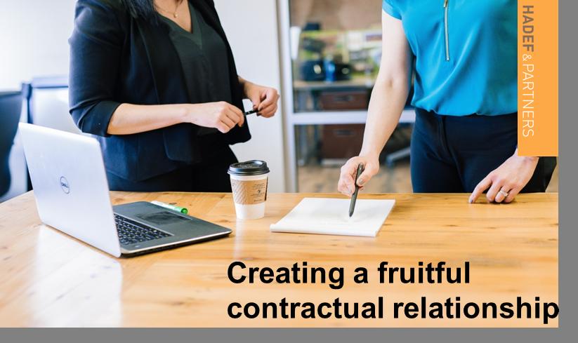 Creating a Fruitful Contractual Relationship