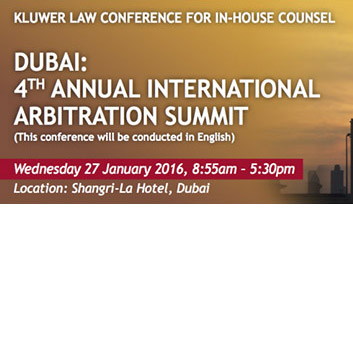 Kluwer Law Conference for In-House Counsel | Dubai 4th Annual International Arbitration Summit
