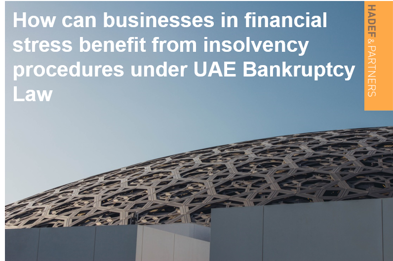How can businesses in financial stress benefit from insolvency procedures under UAE Bankruptcy Law