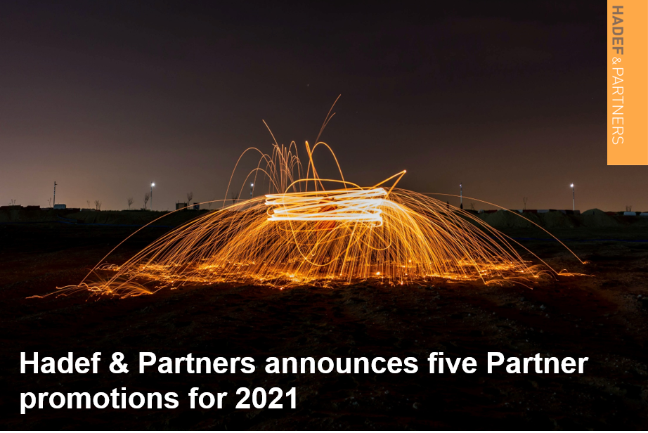 Hadef & Partners announces five Partner promotions for 2021
