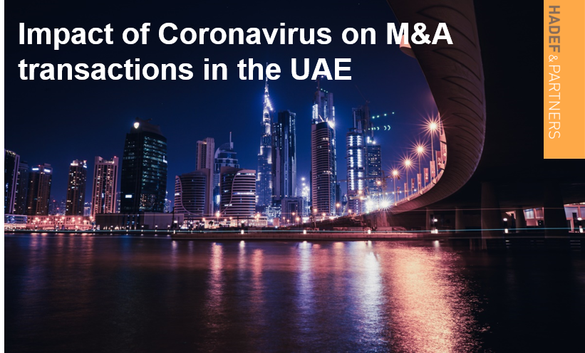Impact of Coronavirus on M&A transactions in the UAE