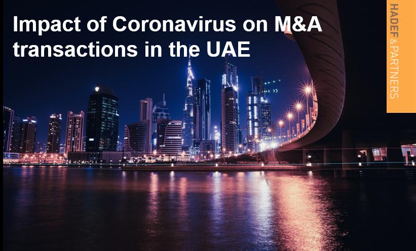Impact of Coronavirus on M&A transactions in the UAE