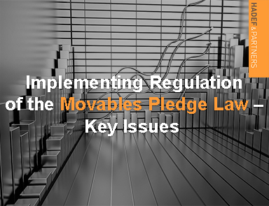 Implementing Regulations of the Movables Pledge Law – Key Issues