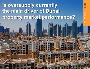 Is oversupply currently the main driver of Dubai property market performance?