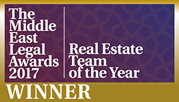 Real Estate Team of the Year 2017, The Middle East Legal Awards