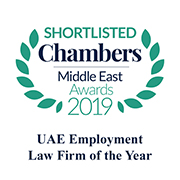 Shortlisted for UAE Employment Law Firm of the Year 2019