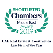 Shortlisted for UAE Real Estate & Construction Law Firm of the Year 2019