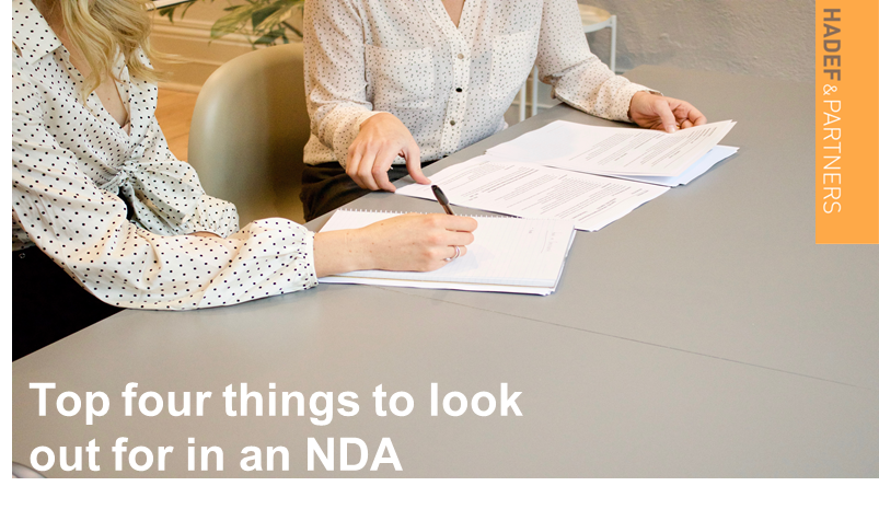 Top four things to look out for in an NDA